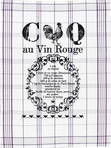 Geschirrtuch Le coq rouge - Coq au Vin Rouge