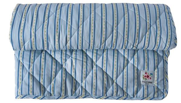 Falby - Steppdecke blau Streifen