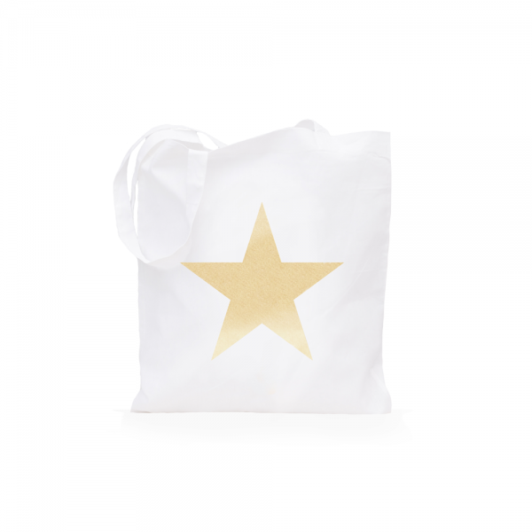 Eulenschnitt - Jutebeutel Stern gold