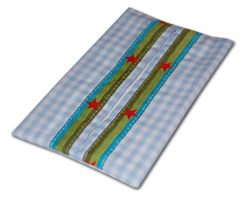 Taschentüchertasche hellblau Stern