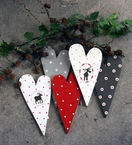 Madleys - Herzen grau/rot gross