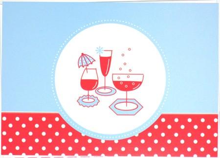 Tante Ema - Postkarte - Cocktailküsschen