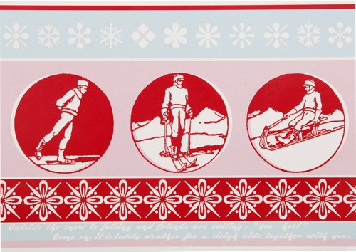 Overbeck and Friends Postkarte Wintersport
