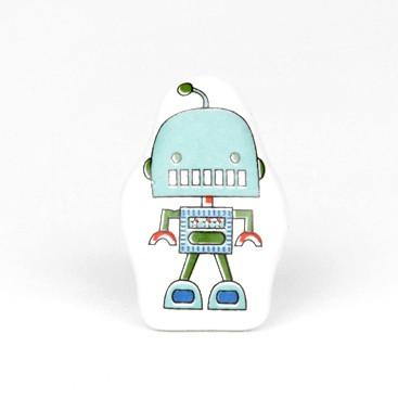 Knopf Roboter