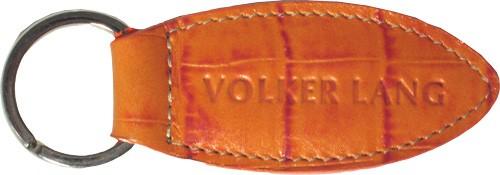 Volker Lang - Schlüsselring Ellipse orange