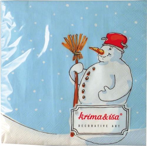 Krima & Isa - Servietten Schneemann
