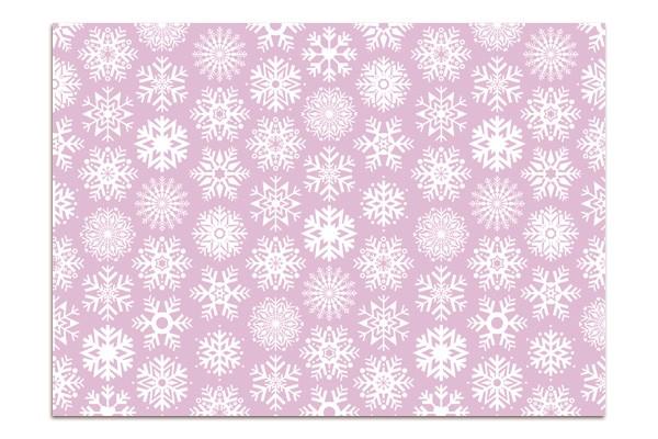 Minipunkt Postkarte flieder Schneeflocke