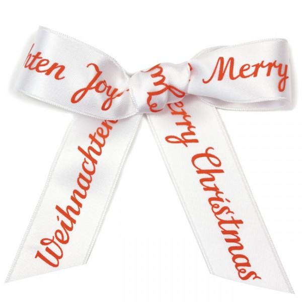 Krima & Isa - Schleifenband Meterware Frohe Weihnachten