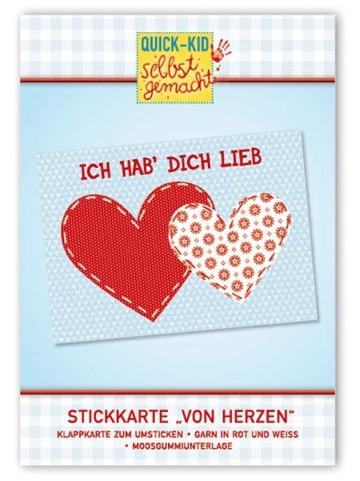 """Die Papermaker - Stickkarte """"Ich hab Dich lieb"""""""