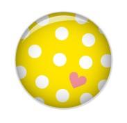 Minipunkt Button gelb