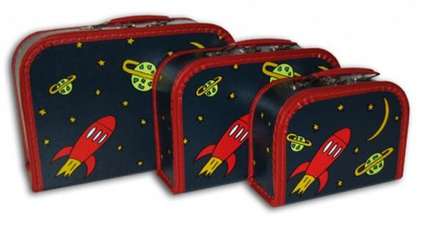 Spielkoffer dunkelblau mit Rakete
