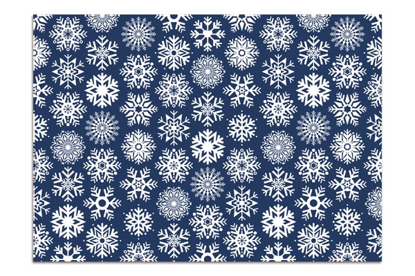 Minipunkt Postkarte dunkelblau Schneeflocke