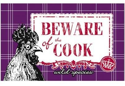 Frühstücksbrettchen Le coq rouge - Beware of the cook