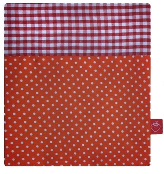 La Fraise Rouge - Kälte- und Wärmekissen Tupfen orange