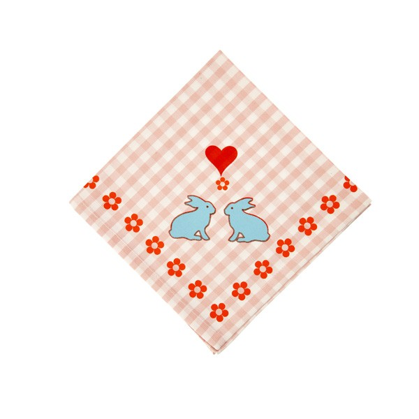 Overbeck and Friends Serviette Bunny Rose