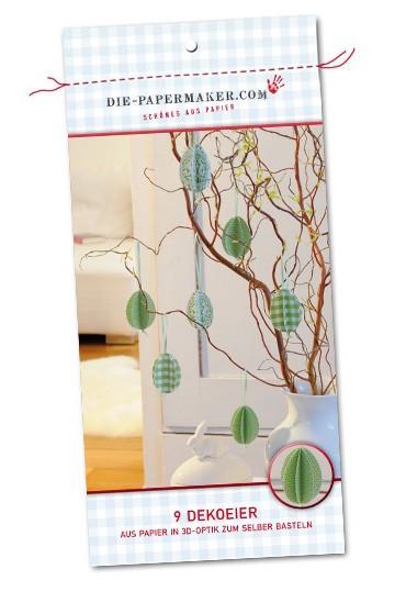 Die Papermaker - Bastelbogenset Dekoeier grün