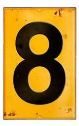 Schild Zahl 8