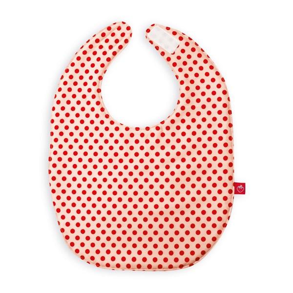 La Fraise Rouge - Lätzchen Punkte rosa/rot