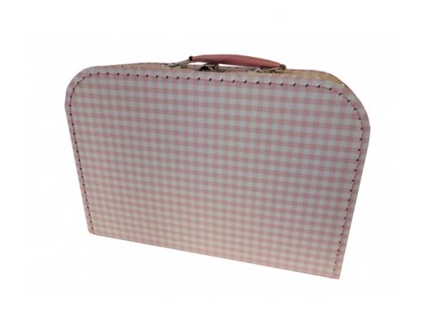 Spielkoffer 30 cm Karo rosa
