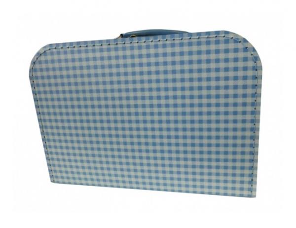 Spielkoffer 30 cm Karo hellblau