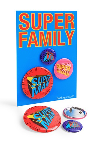 donkey products - Super Buttons Super Family