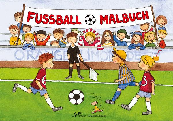 Grätz - DIN A 5 Malbuch Fussball