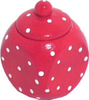 Herzenswunsch - Milchzahndöschen rot