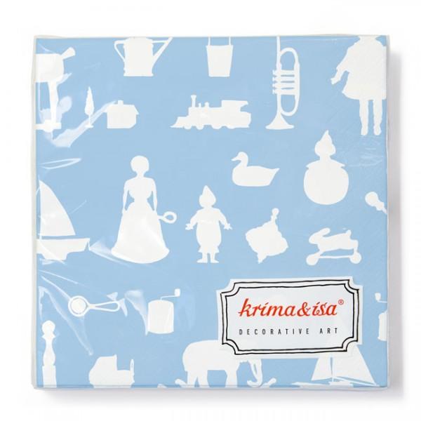 Krima & Isa - Servietten Spielwaren hellblau