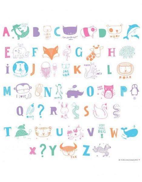 Buchstabenset pastel ABC Lightbox