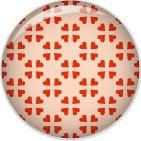 Minipunkt Button koralle mit Endlosherzen