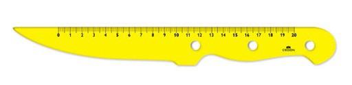 Cedon - Lineal Messer gelb klein