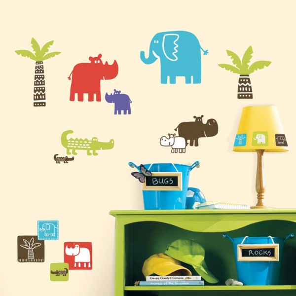 RoomMates Wandsticker - Safari Blocks