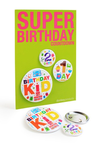 donkey products - Super Buttons Super Birthday