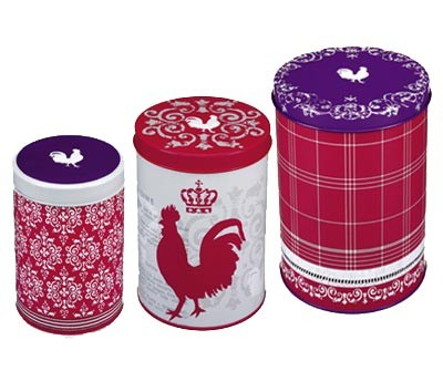 Blechdosen Set Le coq rouge