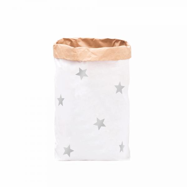 Eulenschnitt - XXL Papiersack DIY Sterne silber