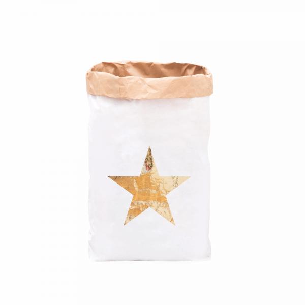 Eulenschnitt - XXL Papiersack Stern gold