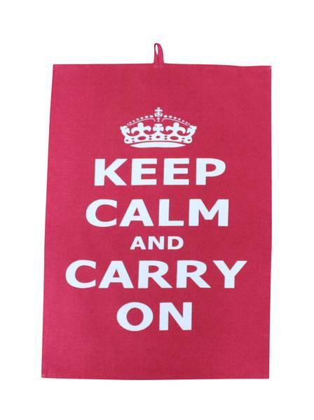 Geschirrtuch Keep Calm rot