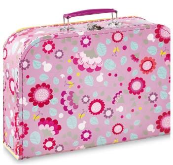 Koffer Minilabo 3 Blumen rosa gross